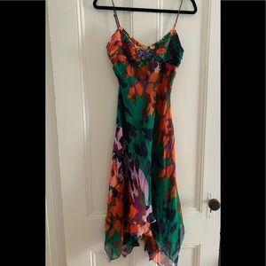 Vintage BCBGMaxAzria Handkerchief Hem Dress